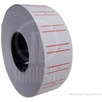Етикетки-цінники Economix 21х12 мм білі з червоною смугою (1000 шт. / рул.), E21301-15