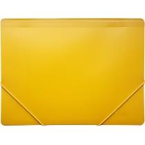 Папка пластикова для документів А4 на гумках під нанесення, жовта