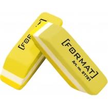 Гумка для олівця 40*12*10 мм, жовто-біла