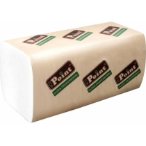 Рушники паперові 2 шари V складання Eco Point Standart, 160 шт, білі