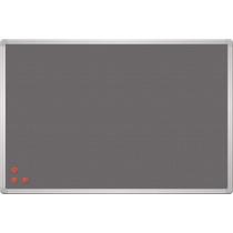 Дошка текстиль сірий + металева сітка рамка сіра, 90 x 60 см