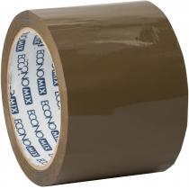 Стрічка клейка пакувальна (скотч) Economix, коричнева, 72мм*66м