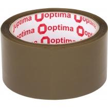 Стрічка клейка пакувальна (скотч) Optima, коричнева, 48мм*60м