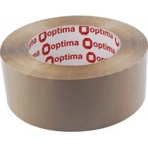 Стрічка клейка пакувальна (скотч) Optima, коричнева, 48мм*160м