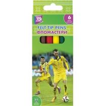 Фломастери Football 6 кольорів