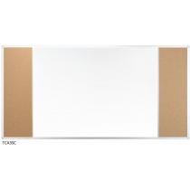 Дошка настінна три секції з комбінованою поверхнею маркер/корок 170 x 100 см