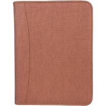 Бізнес-організатор, застібка - молнія, штучна шкіра, на кільця*, 185*230 мм, коричневий