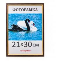 Фоторамка А4, 21*30, 1415-06, коричнева з золотом
