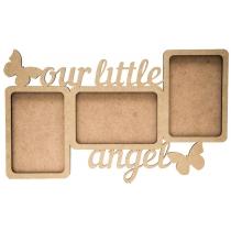 "Заготовка рамка ""Our little angel"", МДФ, 38х22х0,6см, ROSA TALENT"