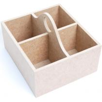Скринька  для чаю, МДФ, 4 комірки  18 х16 х12,5 см, ROSA TALENT