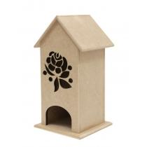 """Чайний будиночок серія """"Квітковий орнамент"""", МДФ, 12,5x12,5x24,5см, ROSA TALENT"""
