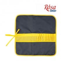 Пенал для пензлів, тканина (37х37см), асфальт+жовтий, ROSA Studio