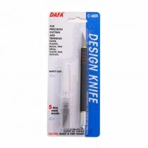 Ніж макетний C-600S, пластикова ручка, 5 змінних лез, DAFA