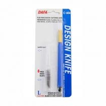 Ніж макетний C-604, пластикова ручка, 8 змінних лез, DAFA