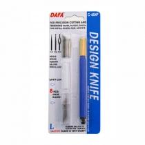 Ніж макетний C-604Р, пластикова ручка, 8 змінних лез + 4 насадки, DAFA