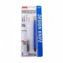 Ніж макетний С-603Р, пластикова ручка, 20 змінних лез + 2 насадки, DAFA