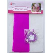 Набір для упаковки подарунка, 40 * 55см, 2шт / уп., Біло-рожевий