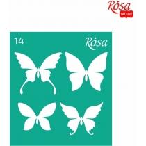 Трафарет багаторазовий самоклейний 9*10см, №14, ROSA TALENT