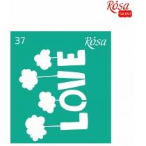 Трафарет багаторазовий самоклейний 9*10см, №37, ROSA TALENT