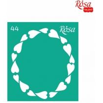 Трафарет багаторазовий самоклейний 9*10см, №44, ROSA TALENT
