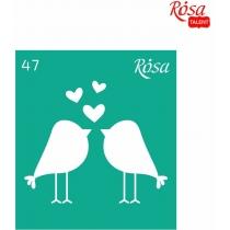 """Трафарет багаторазовий самоклейний 9х10см, № 47, серія """"Love"""", ROSA TALENT"""