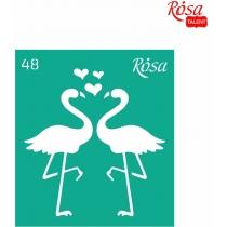 """Трафарет багаторазовий самоклейний 9х10см, № 48, серія """"Love"""", ROSA TALENT"""