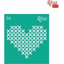 """Трафарет багаторазовий самоклейний 9х10см, № 54, серія """"Love"""", ROSA TALENT"""