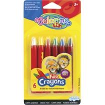 Олівці для обличчя, 6 кольорів