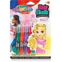 Крейда для волосся у формі олівців з гребінцем, 5 стандартних кольорів