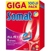 Таблетки для посудомийної машини Somat All в 1 100 шт