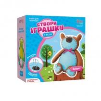 Набір, створи іграшку з фетру, ведмежа Брауні, ROSA KIDS