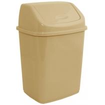 Відро для сміття кремове 18л
