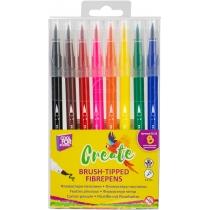 Фломастери-пензлики BRUSH-TIPPED Create, 8 кольорів, лінія 2-5 мм