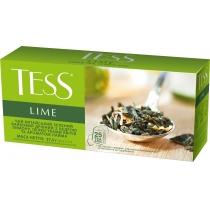 Чай TESS Lime 25 шт х 1,5 г зелений з лаймом і цедрою лимона пелюстками квітів