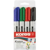 Набір маркерів для фліпчартів KORES XF2 2-3 мм, 4 кольори в блістері