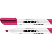 Маркер для білих дошок KORES 2-3 мм, рожевий