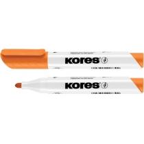 Маркер для білих дошок KORES 2-3 мм, помаранчевий