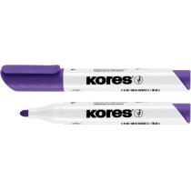 Маркер для білих дошок KORES 2-3 мм, фіолетовий