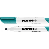 Маркер для білих дошок KORES 2-3 мм, бірюзовий