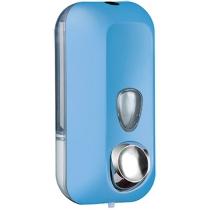 Дозатор мила-піни під картридж COLORED 0,55 л пластик блакитний