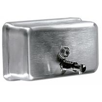 Дозатор рідкого мила горизонтальний 1,1 л нержавіюча сталь сатиновий