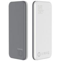 УМБ PURIDEA S2S 10000 mAh Li-Pol Rubber Grey & White