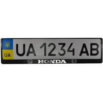 Рамка номер. знаку пластик з об'ємними літерами Honda (2шт)