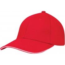 Кепка 6-и панельна OPTIMA PROMO GOLF, червона