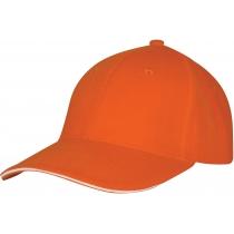 Кепка 6-и панельна OPTIMA PROMO GOLF, помаранчева