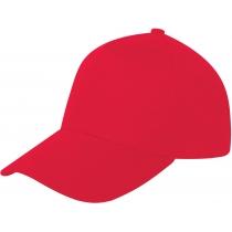 Кепка 5-и панельна OPTIMA PROMO POLO, червона