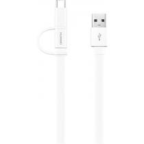 Кабель HUAWEI AP55S Micro-USB + USB-C 2-in-1 (Білий)