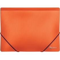 Папка пластикова А4 на гумках Optima двоколірна, помаранчева