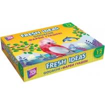 Фарба гуашева Fresh Ideas, 12 кольорів (по 10 см3)