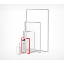 Пластикова рамка для плакатів і рекламних вставок , А4, колір Червоний, 10 шт., EPS